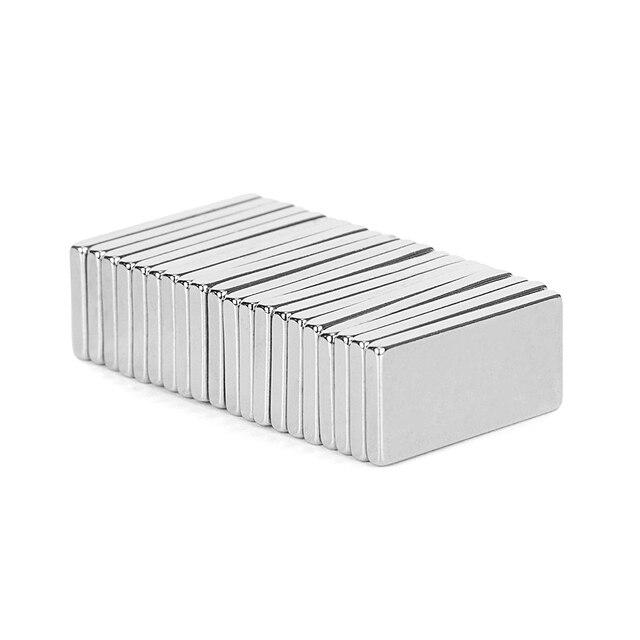 20 pièces N52 20x10x2mm Super fort aimant néodyme puissant magnétique terres rares NdFeB aimants permanents