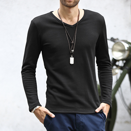 Compare Prices on Plain Black Long Sleeve T Shirts Man- Online ...