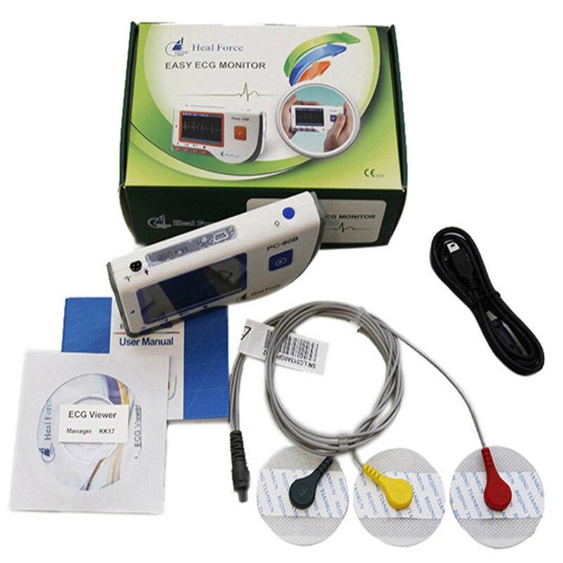 Heal Force PC-80B Avancée De Poche Moniteur ECG Mini Portable LCD Électrocardiogramme Coeur Moniteur Surveillance Machine de Soins de Santé