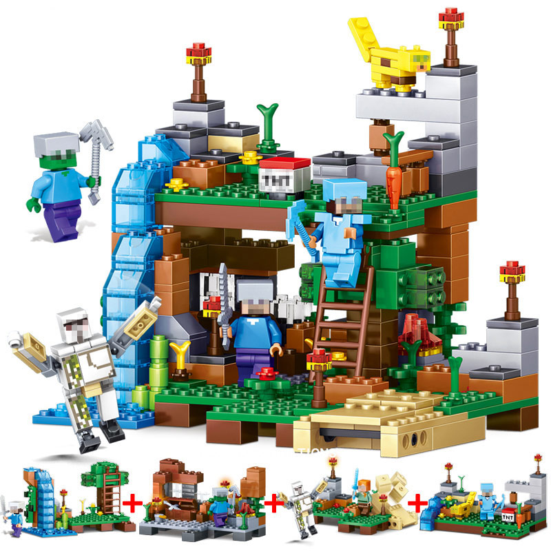 Qunlong Toy 4 in 1 MY WORLD Action Figures Building Blocks Compatible font b Legos b