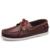 Mens casual elegante marca de lujo de cuero negro tamaño grande 45 muelles cubierta slip ons mocasines zapatos del barco para hombre plana dockers