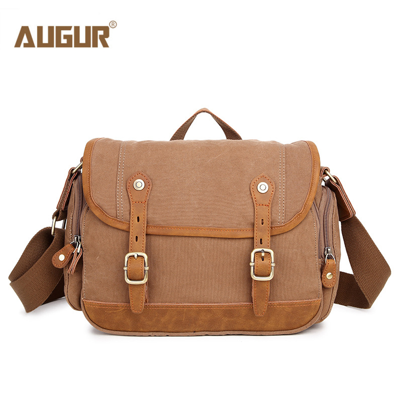 AUGUR New Men Casual Shoulder Bag High Quality Canvas Crossbody Messenger Bag Vintage Designer School Bags for Teenagers Mens augur casual men messenger bags high quality oxford waterproof man shoulder bag luxury brand crossbody bags designer handbags