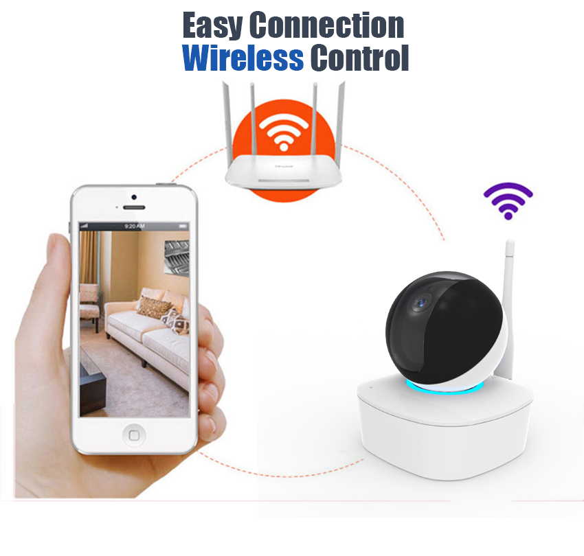 lintratek HD 1080P Wireless Security IP Camera Wifi Surveillance Camera Network Indoor Night Light Baby Monitor with TF card#50-in Surveillance Cameras from Security & Protection    3