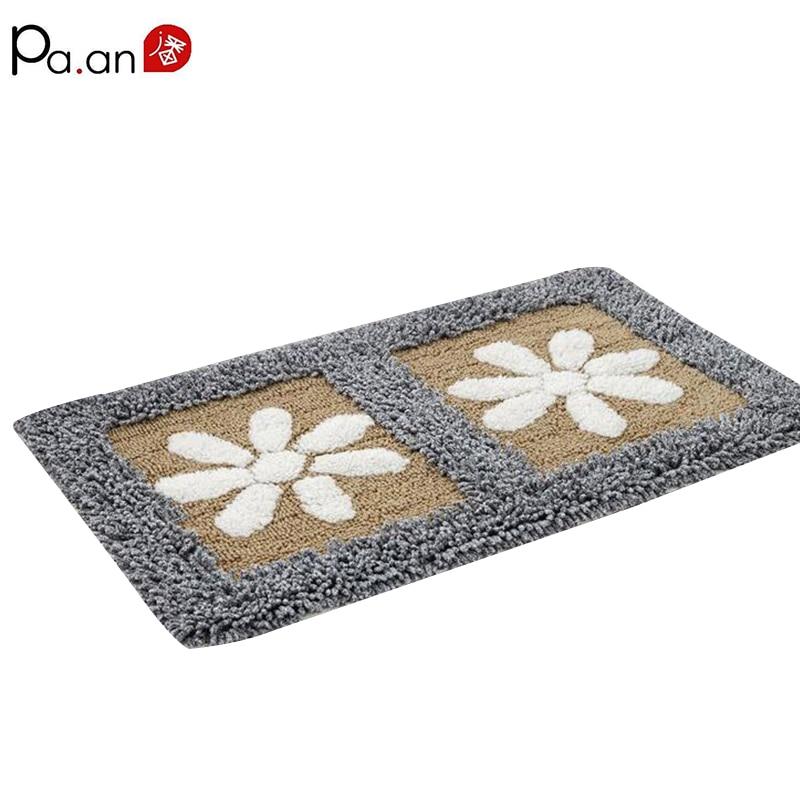 100% Cotton Floor Mat Pintu Petal Anti-Slip Lembut Chenille - Tekstil rumah