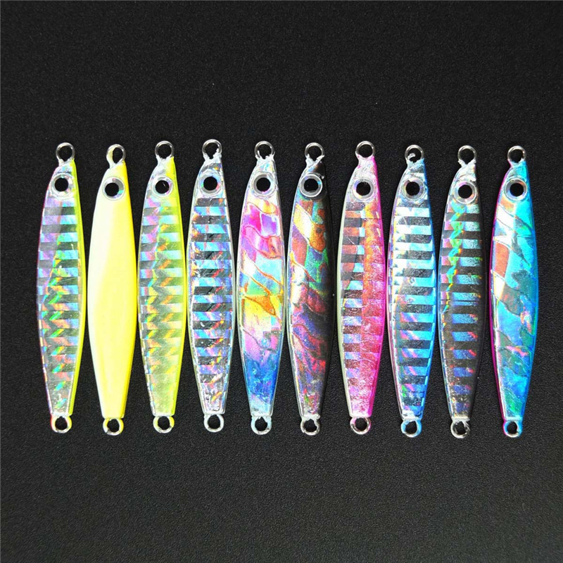 10PCS different weights 7g 12g 17g 22g 30g Jigging Lure Pesca Metal Sequins Lures Bait Jigs Saltwater Road Sub lure fishing