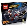 ЛЕПИН 07032 Super Hero Mini-КУКЛА Могучий Micros Deadshot Harley Королева Бэтмен с мото Блоки Игрушки совместимость Действий fiugre