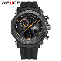 WEIDE Digital Male Watch Brand Luxury Men Clock Saat Men's sport Waterproof silicone military Analog watch chronographs