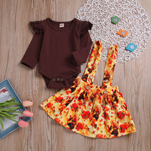 c40854a33e5 (Ship from US) Newborn Infant Baby Girl Romper Tops+Tutu Skirts Turkey Thanksgiving  Outfit Set kids clothes toddler girl clothes