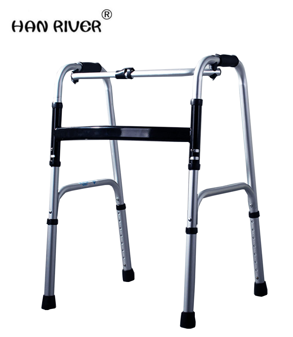 Aluminum alloy for the disabled to help line device fold old man step four feet walking stick to help rehabilitation equipment i the elderly to help line device handrail help frame the old man walking aid walking cane chair stool