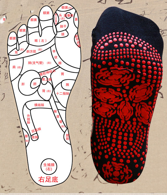 Hot moxibustion health care  tepid self-heating  cold feet deodorant absorbent sweat socks massage the foot acupuncture point jason burke health analytics gaining the insights to transform health care