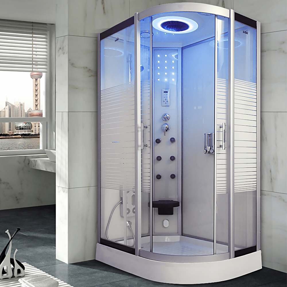 Douche Cabine Us 11999 99 80x120cm Bath Hydro Shower Room White With Steam Cabin Douche Cabine Cubicle Bathroom Enclosure Bath Room Jetted Massage 137l In Shower