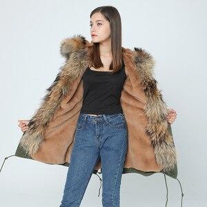 Image 2 - OFTBUY 2020 เสื้อแจ็คเก็ตสตรีฤดูหนาวใหม่ยาวจริงขนาดใหญ่ Raccoon ขน hooded Parkas หนา outerwear stree สไตล์