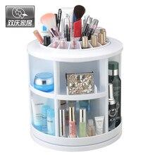 Косметическая коробка 360 градусов вращения Пластик Макияж Организатор Box Регулируемый Multi-Функция косметический ящик для хранения большой Ёмкость