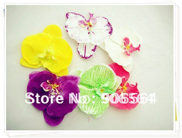 36pc/lot U pick 6 colors Orchid Artificial Flower Hair clips Bridal Hawaii Party Girl fascinator hair accessories