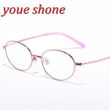 Pure Titanium Eye Glasses Female Supler Quality Light Frame Clear Lens Optical Eyeglasses for Women
