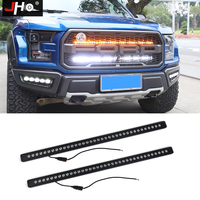 JHO 40 inches Front Grille LED Light Bars Kit For Ford F 150 Raptor 2017 2018 2019 Pickup Truck Styling Accessories White/Amber