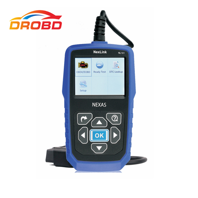 New Price NexLink NL101 OBD2 Auto Diagnostic Scanner Code Reader for Engine with Battery Monitor Better Than AUTEL AL519 Update Online