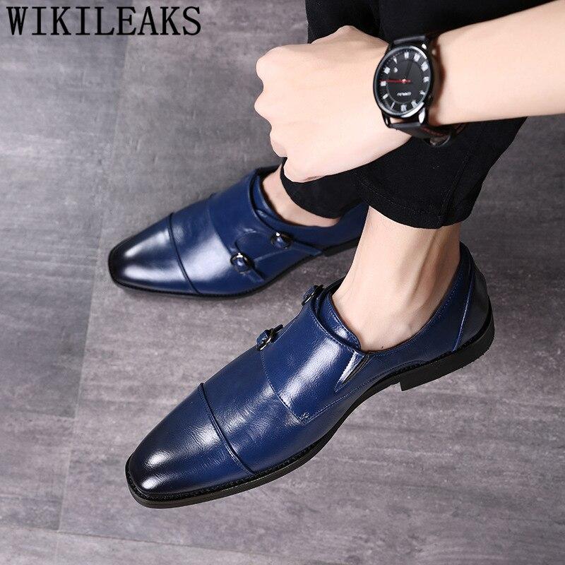fdc2c221 Cheap Zapatos de doble correa de monje zapatos de oficina para Hombre  Zapatos elegantes de cuero