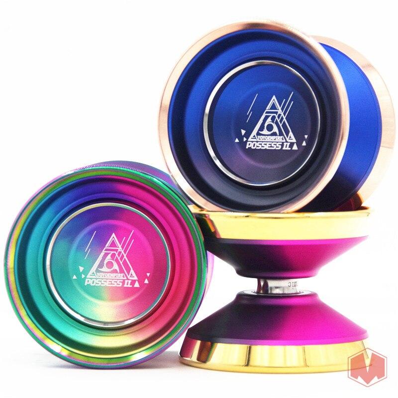 Nouveau Arrivent EMPIRE 7075 Possèdent II YOYO Bimétallique anneau Coloré yo-yo en métal Yoyo pour Professionnel yo-yo lecteur