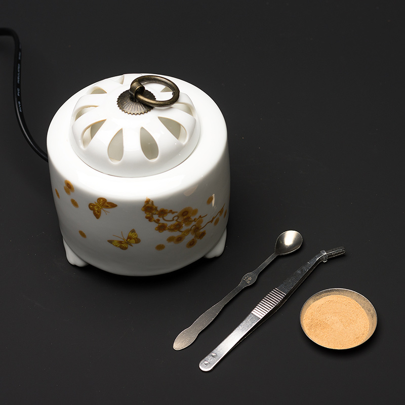 PINNY Cloisonne Electric Incense Burner Electronic Electronic Censer Home Decoration Incense Powder Essential Oil Incense Base in Incense Incense Burners from Home Garden