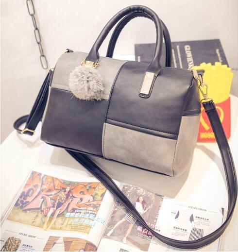 Borsa donna Tipo di Cuscino Sacchetto di Spalla Della Donna Disegno Geometrico Donna Boston Bag giro di Shopping Grande Capacità Borsa Della Donna 957