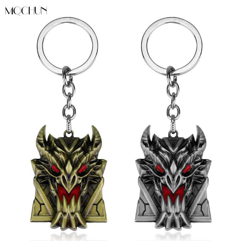 MQCHUN Classic game League of The Heart of the Freljord Braum shield shape Legends key LO chain L Men car key holder Fanchaveiro