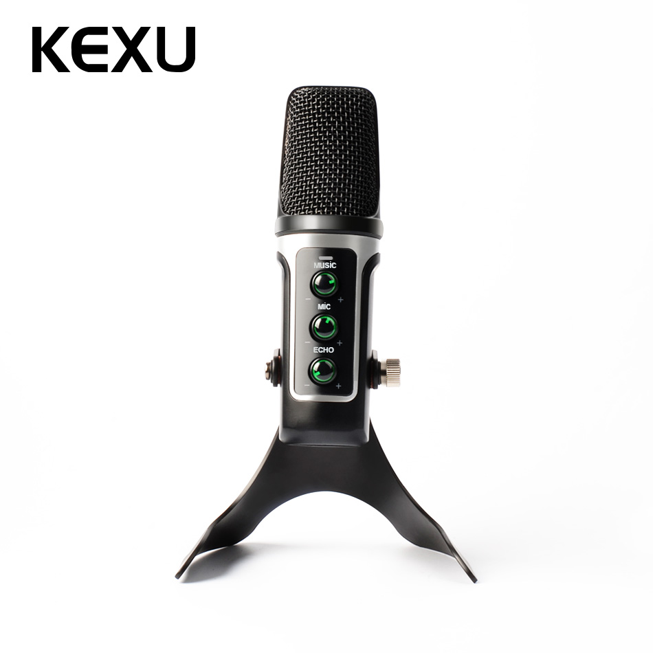 KEXU Microphone Isolation Shield, Studio Mic Sound Absorbing Foam Reflector for Any Condenser Microphone Recording Equipment best quality yarmee multi functional condenser studio recording microphone xlr mic yr01