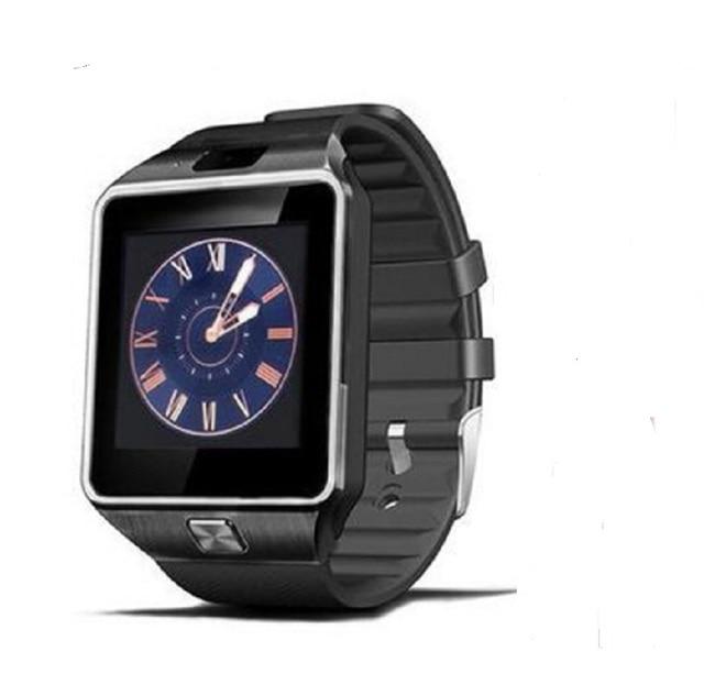 b7576de6777b Dz09 táctil Relojes de pared inteligente reloj hombres Facebook podómetro  reloj inteligente Android tarjeta SIM del