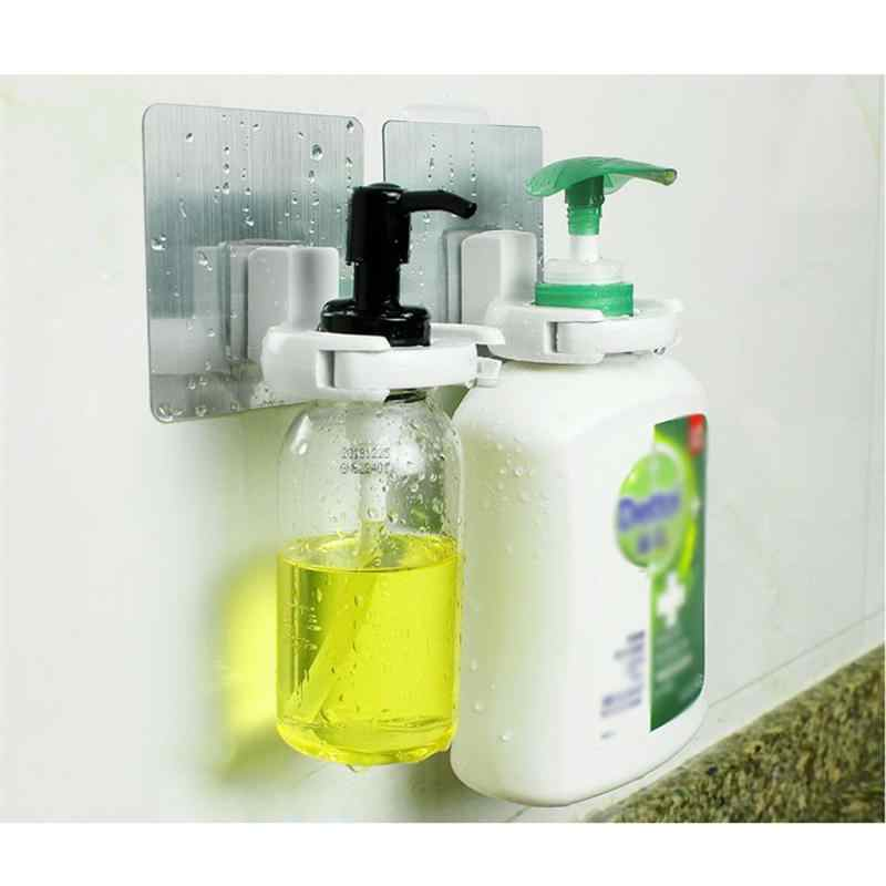 1 Chai Kẹp Thiết Thực Treo Tường Tự Dính Chất Lỏng Xà Bông Tắm Đựng Sữa Tắm Giá Treo Đồ Nhà Tắm vệ sinh