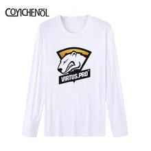 CSGO TERM customize print tshirt men oversized solid color top long sleeve Modal Tees large size O-neck regular topsCOYICHENOL