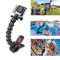 Free Shipping Jaws Flex Clamp Mount Adjustable Goose Neck For GoPro HD Hero 3 3 2