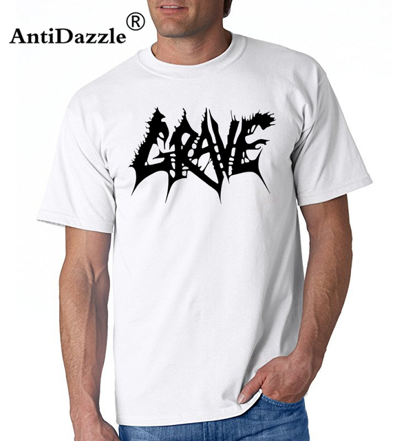 b2b30025e84b New GRAVE Swedish Death Metal Band Logo Men's Black T-Shirt Size S To 2XL  White O Neck Cotton T-Shirt Print Short Sleeve T Shirt