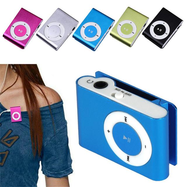 FGHGF cheapest USB metal mini Clip mp3 Player sport portable Music digital TF/SD Card Slot  player mp 3 player card running aaa