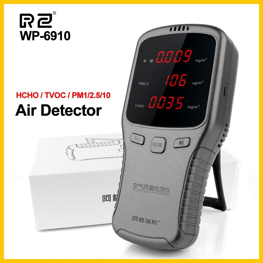 Nova digital formaldeído detector multifuncional analisador de gás qualidade do ar hcho tvoc pm1.0 pm2.5 pm10 monitor doméstico wp6910