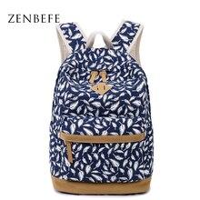 Zenbefe перья Печать рюкзак брезентовый мешок мода рюкзак школьные сумки для подростков качество ноутбук рюкзак дорожная сумка