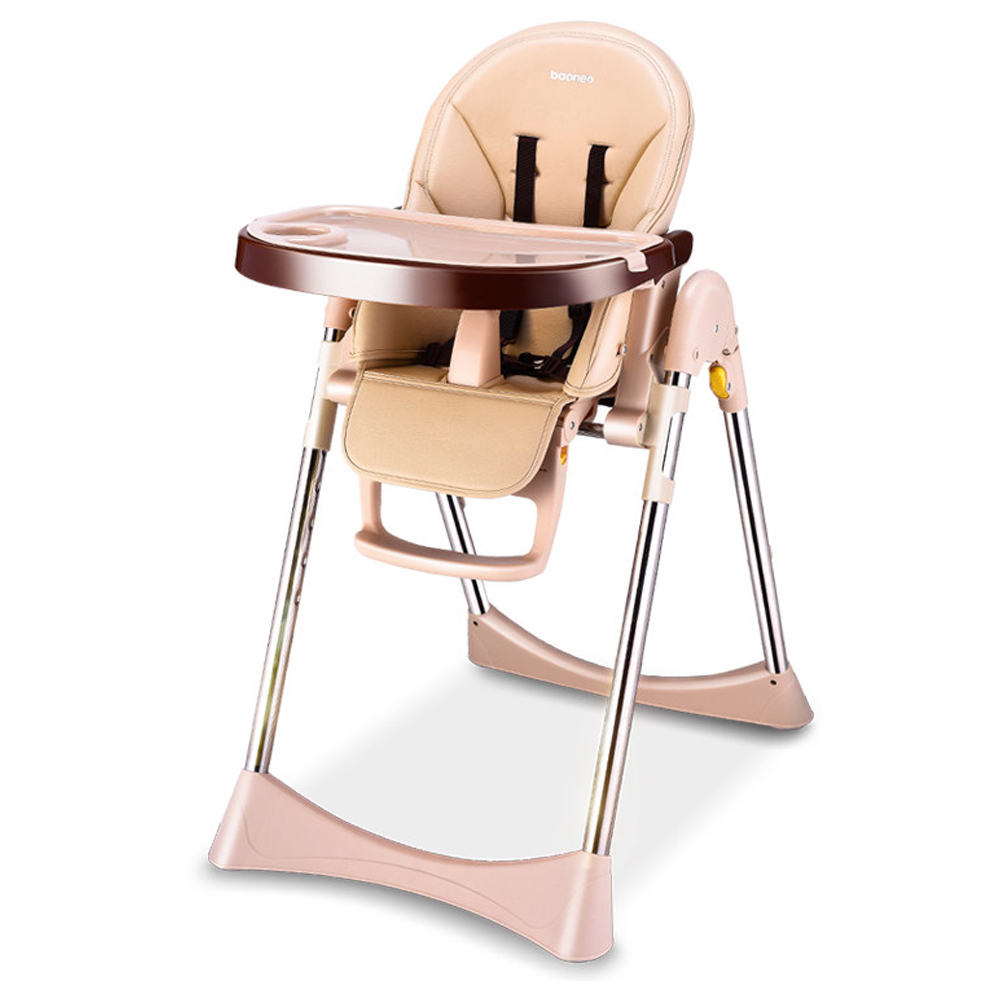 Baby dinner chair portable foldable wooden highchairs table feeding seats adj