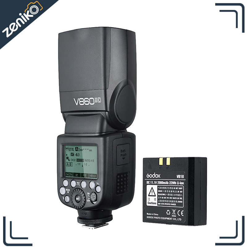Godox Ving V860II-C 2.4G TTL Li-ion Batterie Caméra Flash Speedlite pour Canon 7D 60D 600D 600EX-RT 580EX II