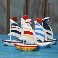 New year home decorations Mediterranean boat sailing home furnishing nautical decor