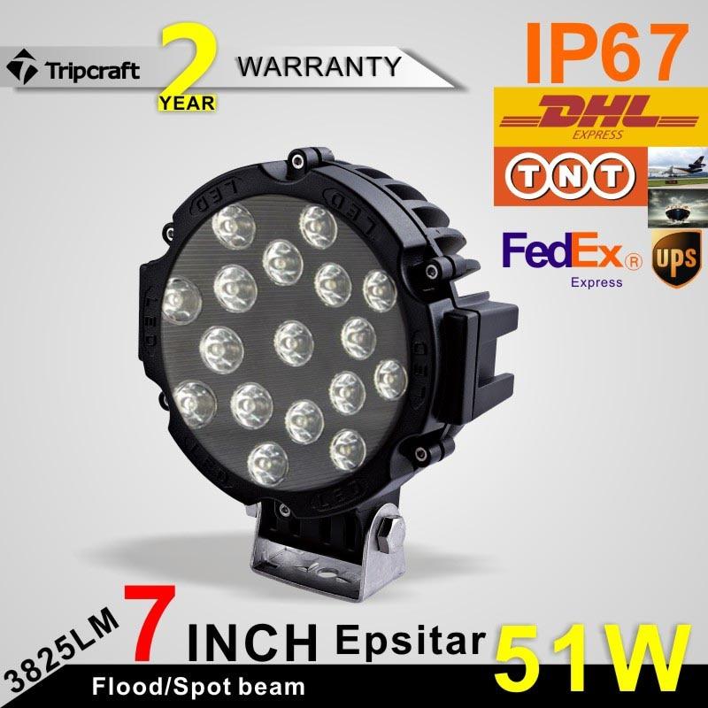 ФОТО FreeShipping! 2pcs 6 Inch 51W LED Working Lamp Ramp for led ramp car accessories Off Road 4WD 4x4 Truck SUV ATV 10V