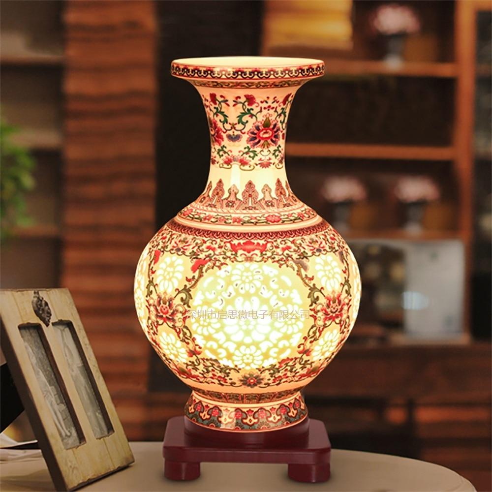 Modern Ceramic Vase Table Lamp: Aliexpress.com : Buy Modern Ceramic Vase Table Light E27