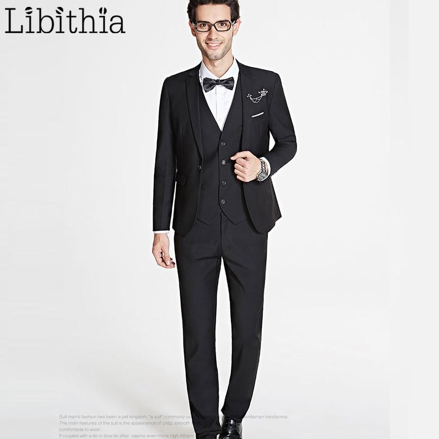 Xhaketë + pantallona të gjera + jelekë me kostume tre copë për - Veshje për meshkuj - Foto 6