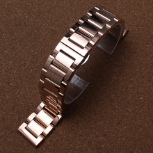 Rose gold Bracelet Replacement New Watchband straps 18mm 20mm 22mm Stainless Steel solid link fashion mens