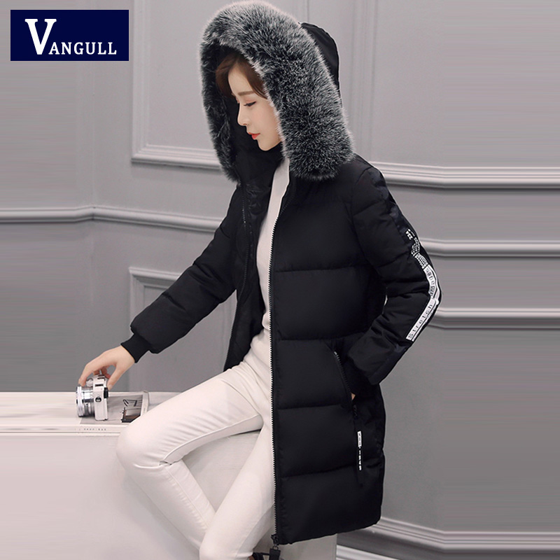 Woman X-long Warm Parka Winter Jacket with Hood Women Thick Fur Collar Coat 2017 New Fashion Collection Outerwear Plus size 3XL x long woman warm winter down coat camouflage brand really fur collar hood print down jackets with pockets size m 3xl