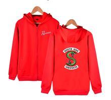 new Riverdale zipper Hoodie Sweatshirts South Side Serpents Hoodie Women Long Sleeve Pullover Tops Harajuku Hoodie Streetwear все цены