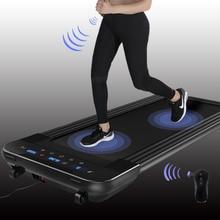 Black Remote Control Electric Treadmill Mini Electric Running Training Fitness Treadmill Home Sports Mute Fitness Equipment