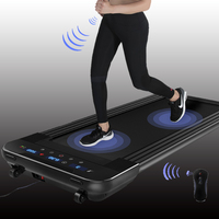 Ultra thin black treadmill fitness equipment easy to run treadmill home mute flat sports car fitness belt / without handrails