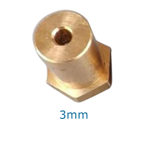 1x Gold Shaft Motor Coupling Coupler for Wheel tyre DC Motor Robot VE840 P0.5