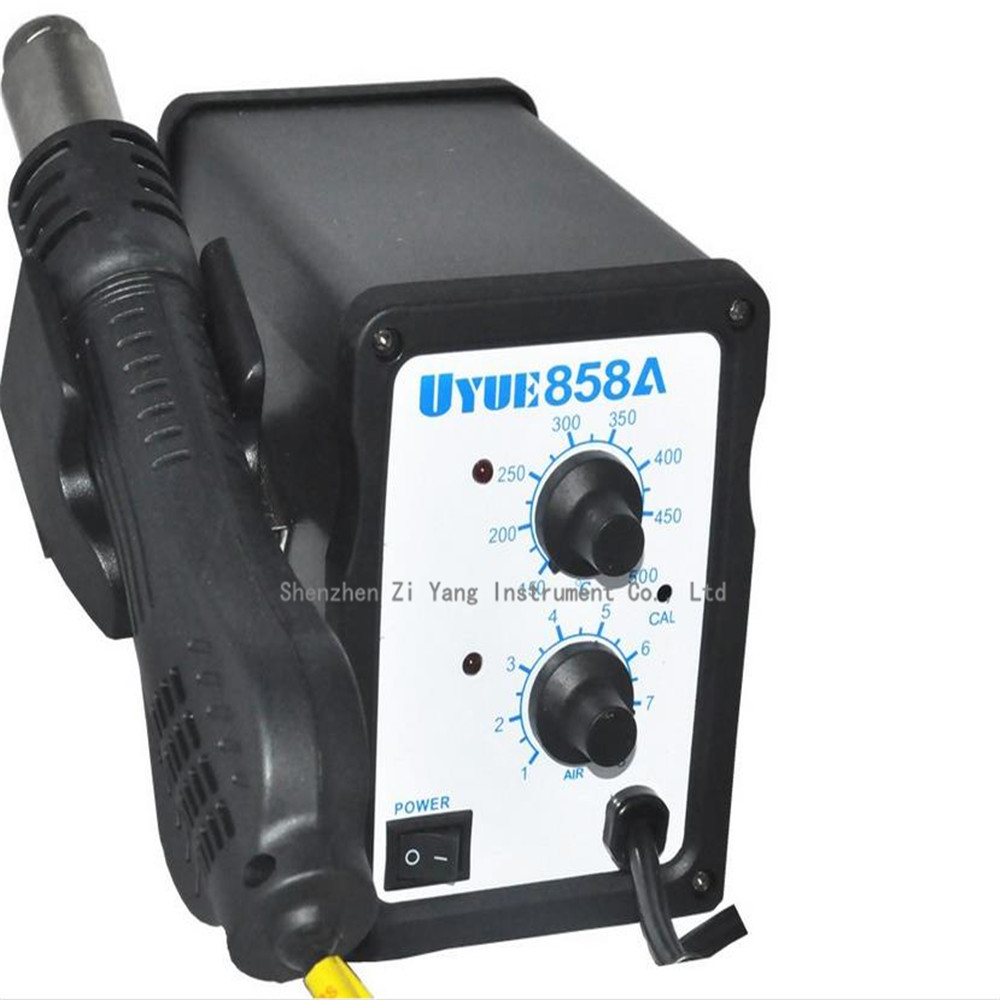 цена на 110V/220V AC 700W 858A Desoldering welding Tool Hot Air Soldering Station Gun Temperature Adjustable With 3 Nozzles