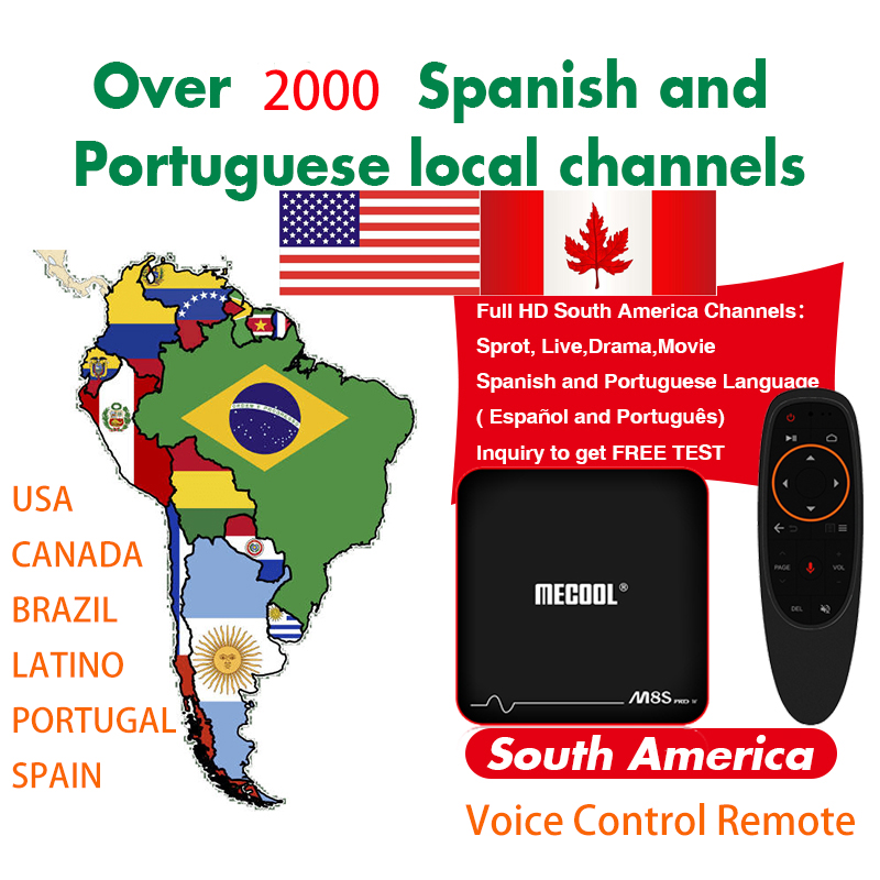 Intellective Colombia Brazil Chile Uruguay 4k Iptv Subscription Voice Control Tv Box For Paraguay Ecuador Venezuela Peru For Smart Tv Box Tv