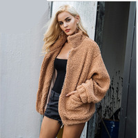 2019 New European and American Ladies Faux Fur Coat Women Winter Thicken Warm Coats Casual Outwear Loose Jacket Large Size 4XL